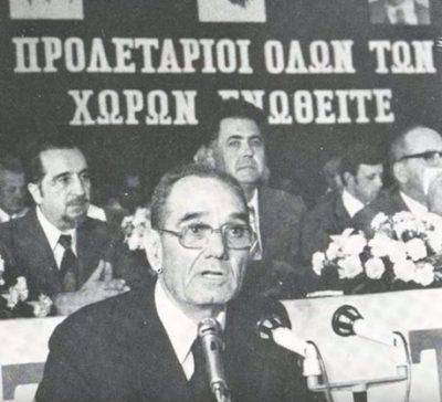 Ο ηγέτης του ΑΚΕΛ, Εζεκίας Παπαϊωάννου που πολέμησε στον Ισπανικό Εμφύλιο