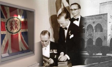 Η τελευταία βρετανική σημαία της Κύπρου που έμεινε 40 χρόνια σε ένα συρτάρι, εκτίθεται πλέον στο Μουσείο Αγώνος